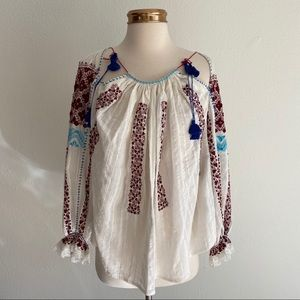 Ulla Johnson | Mila Embroidered Blouse Top